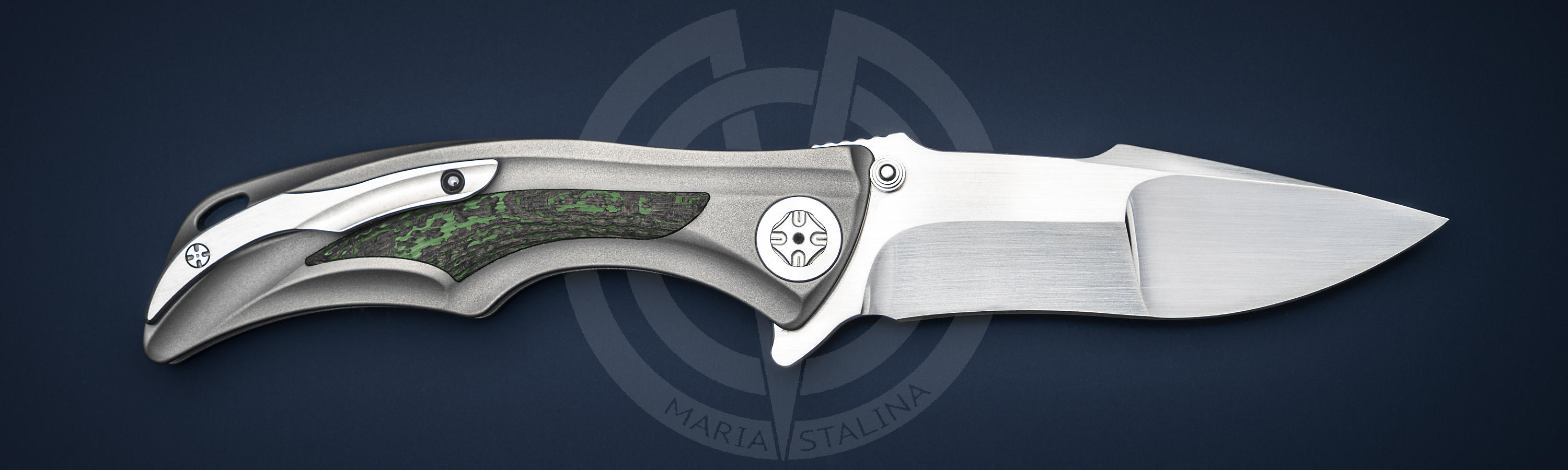 Blade material	steel RWL-34 knife Down Integral Green Carbon Fiber