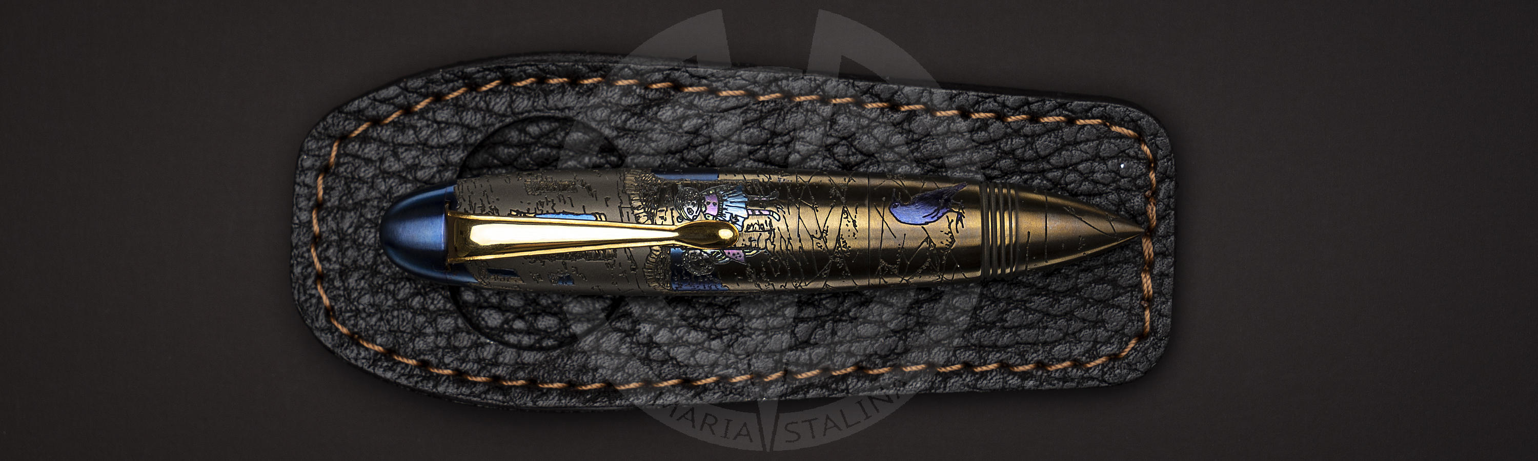 Zeppelin Teddy Death anodized tactical pen Streltsov P&A