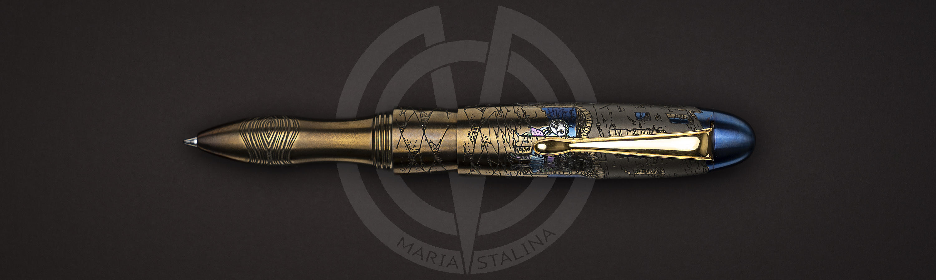 Zeppelin Teddy Death tactical titanium pen