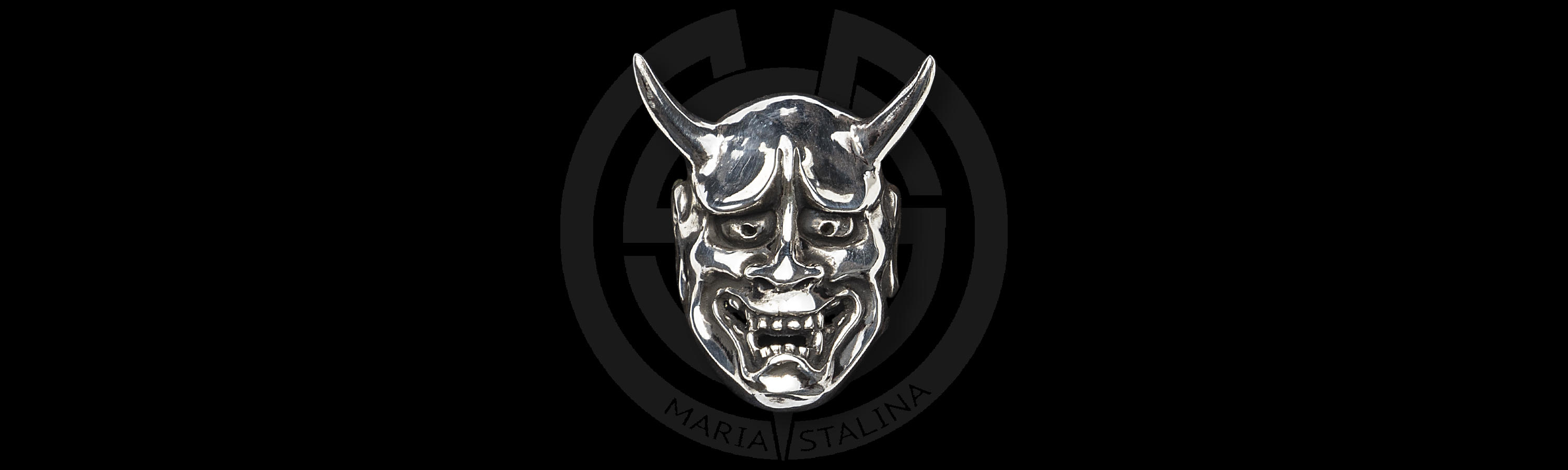 The demon mask Ring Hannya by Hidetoshi Nakayama Japan