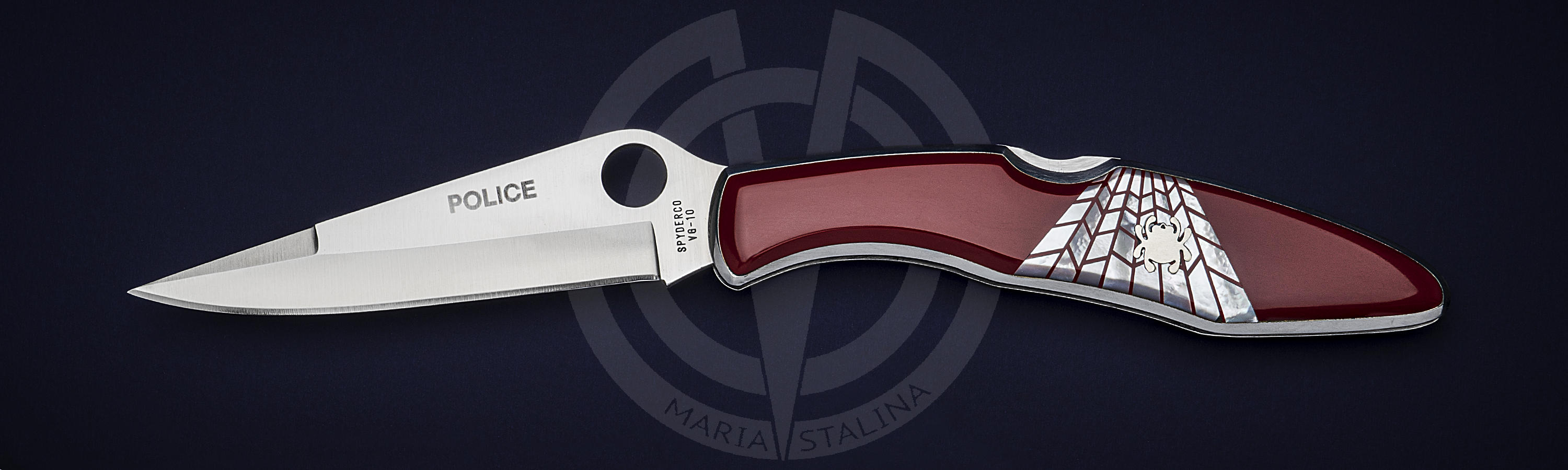 Spyderco нож Police Red