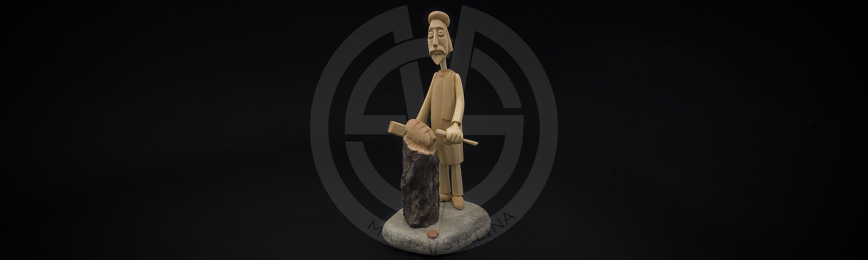 Custom wooden statuette