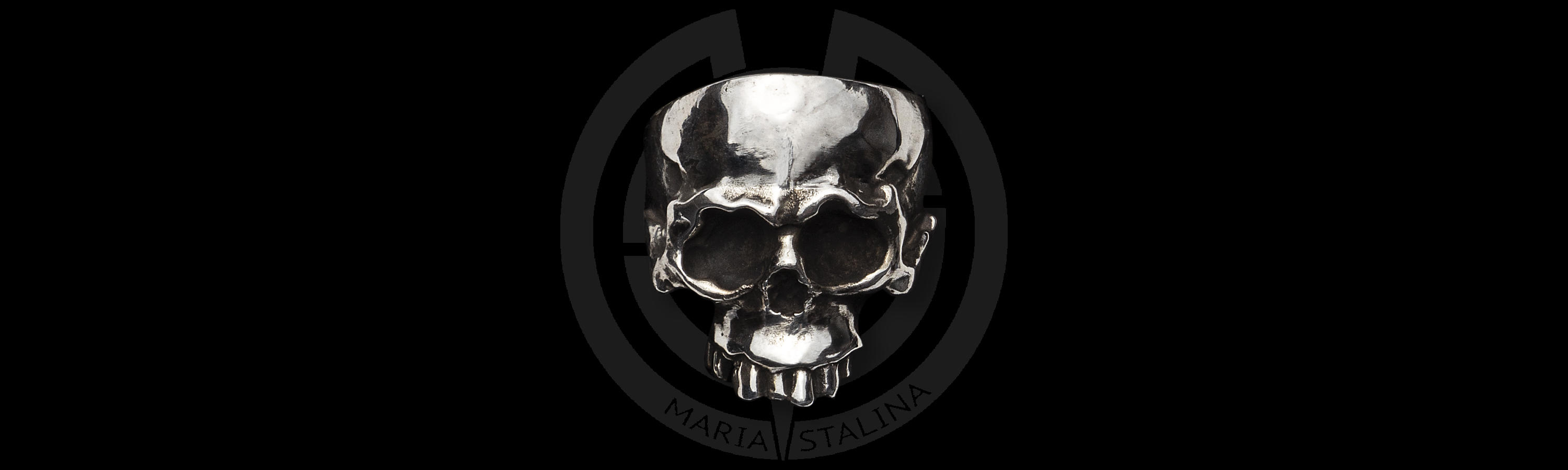 Men's metal ring Skull work by Hidetoshi Nakayama