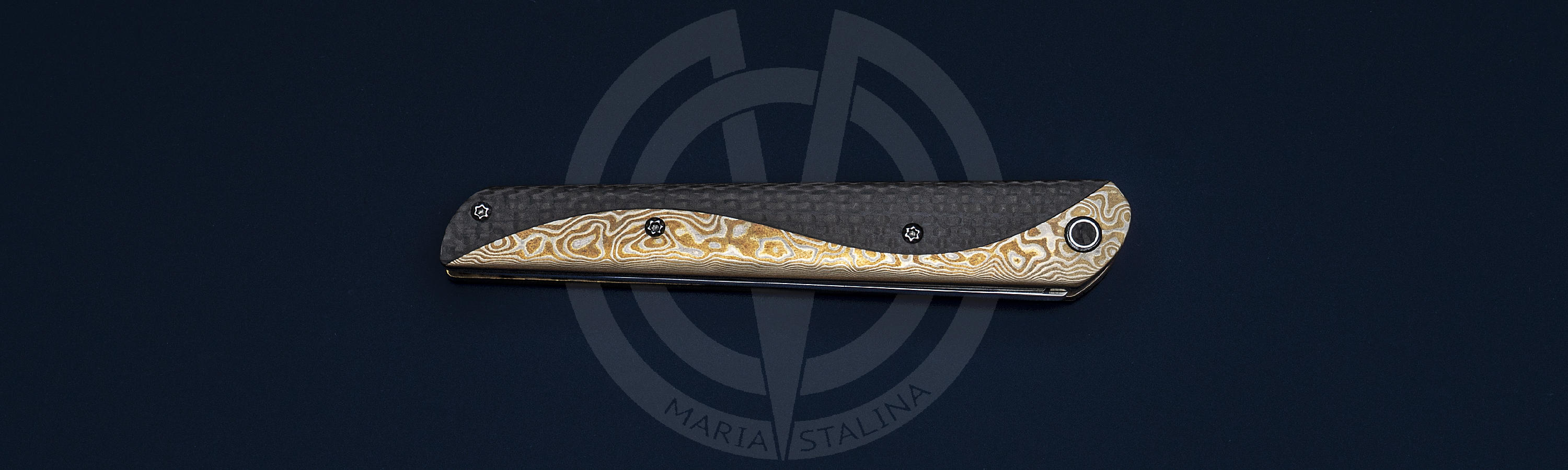Mokume and Carbon fiber of the handle